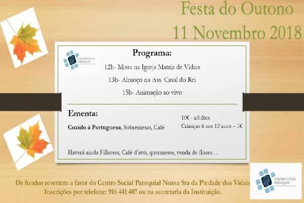 FESTA DO OUTONO NOS VIDAIS, 11 DE NOVEMBRO