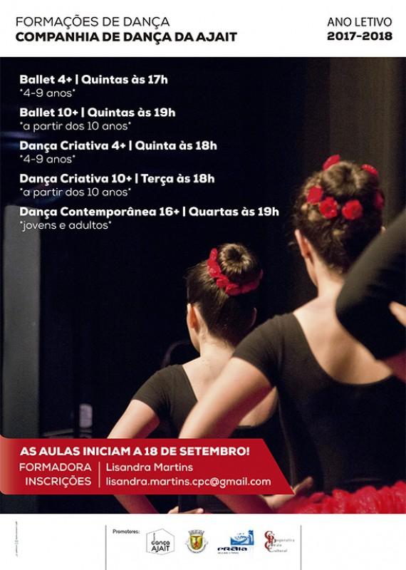 Inscrições abertas para formações da Companhia de Dança da AJAIT