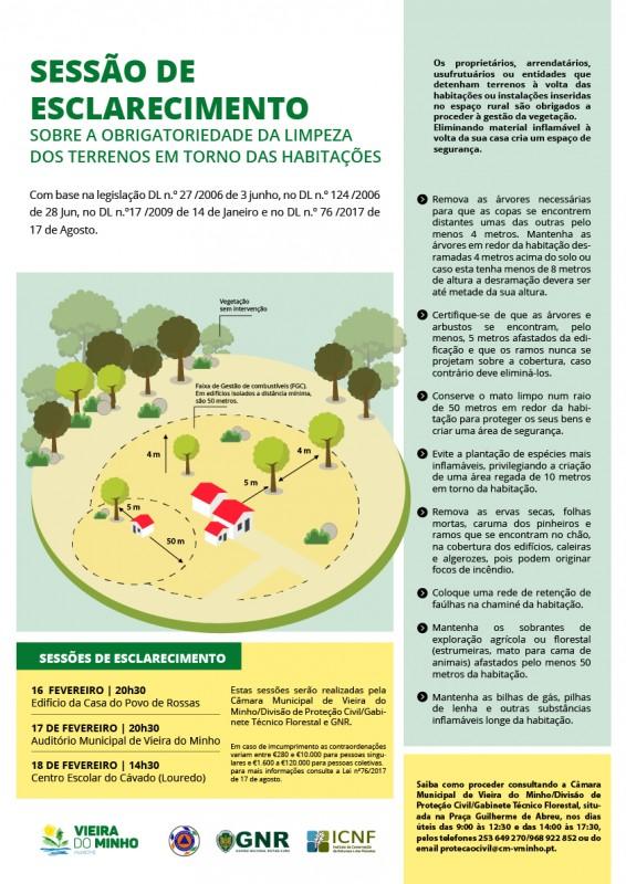 Município de Vieira do Minho promove ações de sensibilização para a limpeza de terrenos florestais